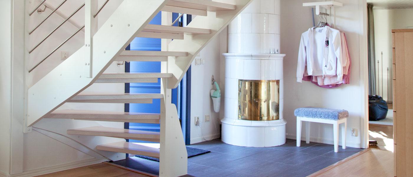 Svängd trappa